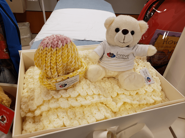 baby gifts - teddy bear and hat
